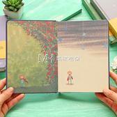 筆記本 彩頁插畫日記本歐式手繪復古風筆記本文具創意記事本本子  瑪奇哈朵