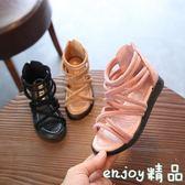 夏季平底女孩涼鞋 小公主鞋子