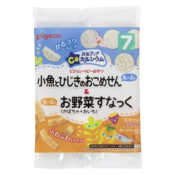 小饅頭**Pigeon貝親 小魚羊栖菜餅乾&南瓜甘藷點心(7月以上寶寶食用)(P1022632)