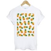 Print Pineapple短袖T恤 白色 鳳梨水果文青插畫藝術塗鴉韓潮流t-shirt 490 Gildan
