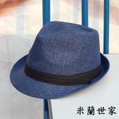 小禮帽男夏天休閒大碼帽子遮陽草帽