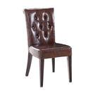 【森可家居】雷恩酒紅色皮餐椅 7JF488-1