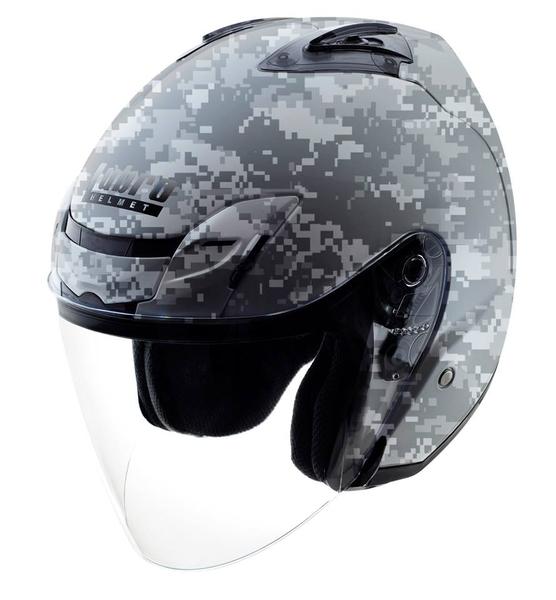 【東門城】LUBRO AIR TECH 數位迷彩 (灰) 半罩式安全帽