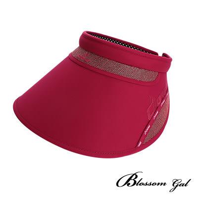 Blossom Gal 韓系運動風玩美防曬大遮陽帽(桃紅)