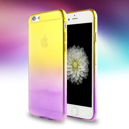 iPhone 6/6 Plus 漸層變色/單色彩色 TPU手機殼 超薄隱形保護套 軟殼 蘋果6 Apple i6+