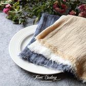 餐桌墊布手工棉麻毛邊餐巾餐墊 美食甜品蛋糕攝影背景布拍照道具 簡約自然【艾琦家居】