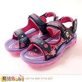 中大童運動鞋 便利磁扣可拆後帶青少女運動涼鞋 魔法Baby