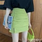 窄裙 性感包臀半身裙女2020新款白色緊身開叉短裙夏季高腰顯瘦一步裙子 嬡孕哺