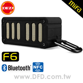 (點我享檔期優惠)MiFa F6無線NFC隨身藍芽MP3喇叭(極地黑) NFC快速配對超方便!