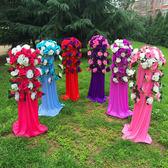 中式婚禮布置結婚花柱花拱門羅馬柱t臺裝飾道具路引婚慶新款2018 極客玩家