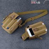 運動腰包 腰包男多功能豎款穿皮帶手機包帆布實用耐磨防水戰術迷你小掛包 數碼人生