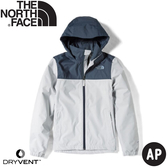 【The North Face 女 DryVent 防水外套《錫灰》】49F8/衝鋒衣/防風外套/防水夾克