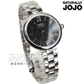 NATURALLY JOJO 格紋時尚簡約腕錶 防水手錶 女錶 手鍊錶 編織紋 黑 JO96911-88F