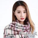 保暖披肩圍巾-防寒保暖英倫格紋刷毛搖粒絨多功能披肩圍巾背心冬蓋毯15AW-P008 FLYSPIN