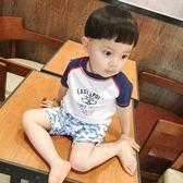 韓國韓版分體男童防曬抗UV兒童寶寶泳衣 男孩分體鯊魚防曬游泳衣