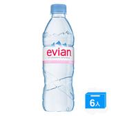 Evian愛維養天然礦泉水500ml*6入/組【愛買】