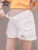 孕婦牛仔短褲孕婦褲子薄款打底褲孕婦短褲夏季時尚外穿孕婦裝夏裝 童趣屋