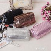 亮片女士錢包新款版版化妝包雙拉鍊手腕包 手抓零錢包5.5寸手機包 多莉絲旗艦店