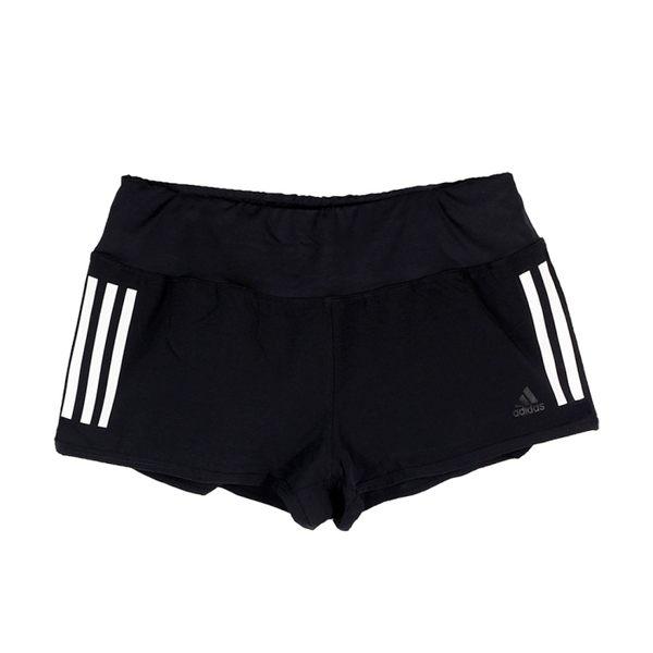 adidas 女 GYM SHORT 3S 愛迪達 運動短褲 黑- AJ4851