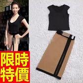 套裝(上衣+短裙)-明星款閃耀個性韓版兩件式裙裝56s47【巴黎精品】