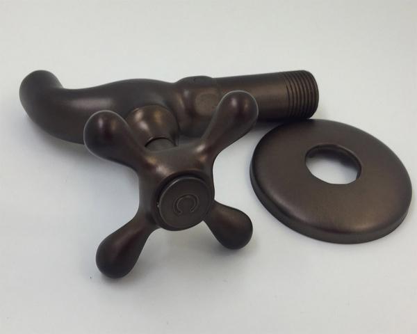 典陶瓷十字長栓陶瓷長栓 水龍頭 4分 1/2 復古 工業風 古典陶瓷十字長栓(咖啡黑)27-5516