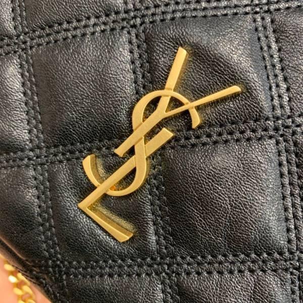 ■專櫃88折■ Saint Laurent 聖羅蘭 全新真品 608941 Becky Zip 菱格紋小羊皮雙拉鍊相機包 黑色