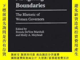 二手書博民逛書店Navigating罕見Boundaries: The Rhetoric Of Women Governors (