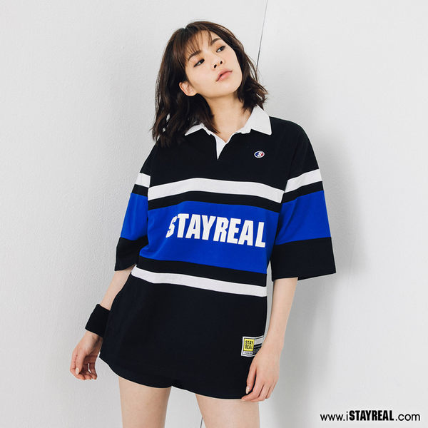 STAYREAL 潮運動寬版POLO衫