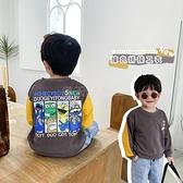 優優之家童裝男童套頭連帽T恤秋季新款韓版休閒兒童寶寶卡通長袖連帽T恤 滿天星