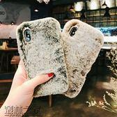 懶兔毛絨絨水鉆蘋果8/X手機殼iphone6s/7plus全包保護套冬季女款【叢林之家】