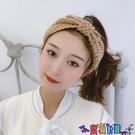 針織髮帶 [2個]秋冬外出毛線針織髮帶寬邊女韓國網紅復古頭套頭巾敷面膜編織頭箍 618狂歡