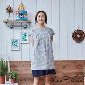 【Tiara Tiara】拓印風點點短洋裝(灰)-不含襯裙