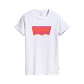 Levis 女款 短袖T恤 / 翻玩夏日Logo T / 復古3D電玩風Logo / 白