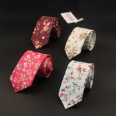 領帶男女士領帶全棉結婚男碎花手打領帶休閑時尚箭頭學院風 交換禮物