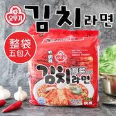 韓國 OTTOGI 不倒翁 泡菜風味拉麵 (五包入) 600g 韓式 泡菜麵 消夜 泡麵 韓國泡麵