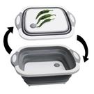 [拉拉百貨]多功能折疊切菜板 伸縮洗水果盤 切菜盆可摺疊洗菜盆切菜板瀝水