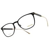 TOM FORD 光學眼鏡 TF5483 001 (黑-金) 簡約 學院風 方框 鈦眼鏡 鏡框 鏡架 # 金橘眼鏡