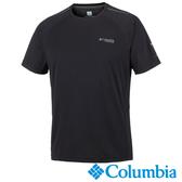 Columbia 男 鈦防曬15涼感快排短袖上衣 黑 UAE06330BK【GO WILD】
