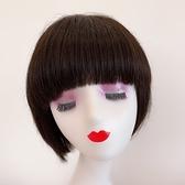 短假髮(整頂真髮絲)逼真齊瀏海內彎直髮女假髮2色73vr17【時尚巴黎】
