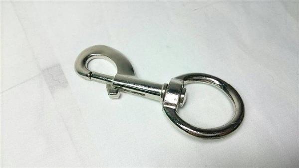 【電白狗鍊頭(特大) 46-69 1入裝】246696鑰匙圈 鑰匙扣 連接環【八八八】e網購