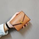 短款女士折疊小錢包多卡位錢夾搭扣皮包