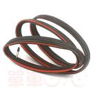 *阿亮單車*TUFO 公路車訓練型(tubular clincher)管胎(C S33 PRO)700X21C,可拆氣嘴,黑紅色《A23-C33-R》