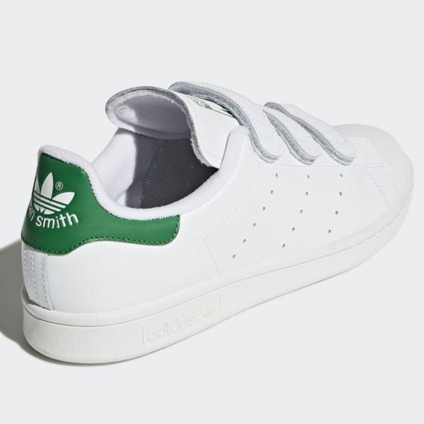 Adidas STAN SMITH 男鞋 女鞋 慢跑 休閒 經典 魔鬼氈 白 綠 【運動世界】 S75187