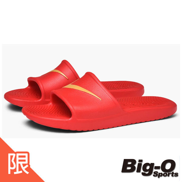 NIKE 耐吉 KAWA SHOWER  紅金 勾勾 拖鞋 防水 運動拖鞋 832528602
