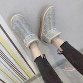 雪靴 網紅雪地靴女短筒2019新款冬絨一腳蹬防滑水?加厚底毛鞋重工滿?35-40碼