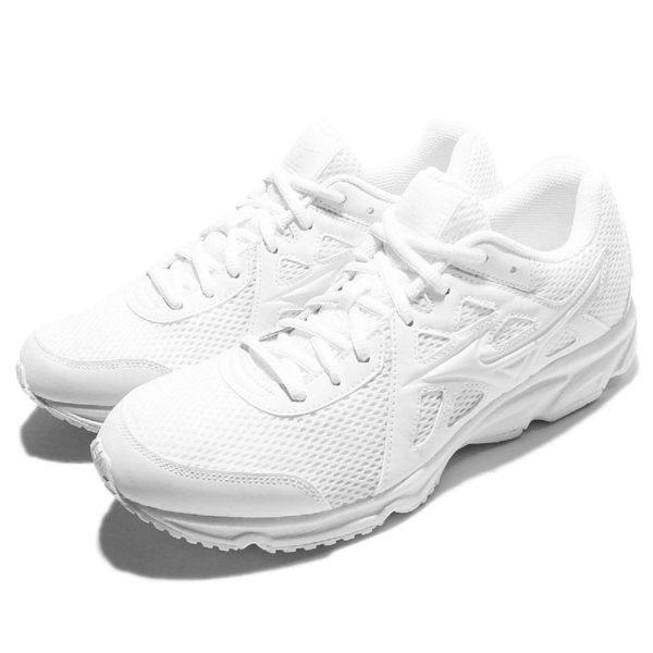 【六折特賣】Mizuno 慢跑鞋 Maximizer 19 全白 白 網布 透氣輕量 男鞋 女鞋【PUMP306】 K1GA170201