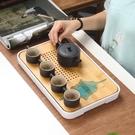 日式簡約茶盤 密胺竹制小茶臺旅行茶具酒店干泡茶臺托盤