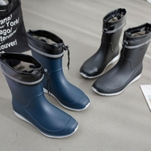 雨鞋男士中筒春秋防滑防水鞋時尚膠鞋水靴套鞋洗車釣魚鞋男雨靴-ifashion