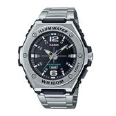 CASIO 卡西歐 手錶 專賣店 MWA-100HD-1A CASIO 指針 男錶 不鏽鋼錶帶 防水100米 LED照明 MWA-100HD