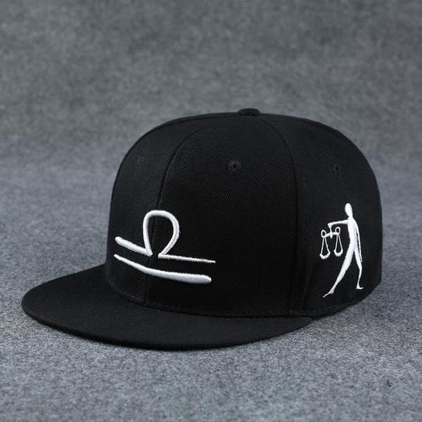 棒球帽 12十二星座帽子男夏天正韓潮人百搭遮陽帽防曬帽女太陽鴨舌棒球帽